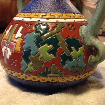 antique porcelain lamp - Lamps