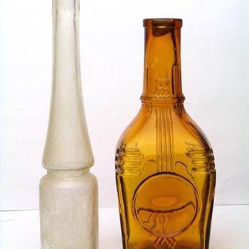 BEAUTIFUL ANTIQUE BOTTLES FROM BOHEMIA  - Bottles