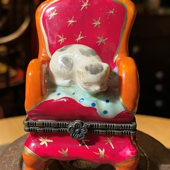 Kitty on a Red Chair Bonbonniere - Furniture