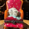 Kitty on a Red Chair Bonbonniere