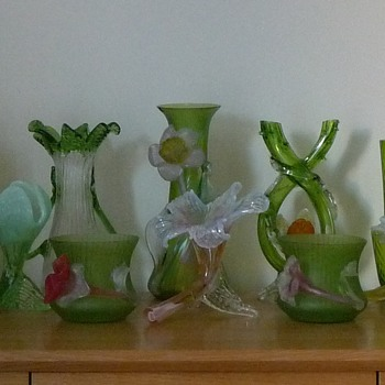 A Kralik Flower Garden - Art Glass