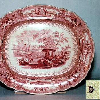 Unknown Stafford-shire Platter - China and Dinnerware