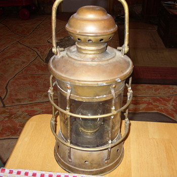 brass kerosene ships lantern - Lamps