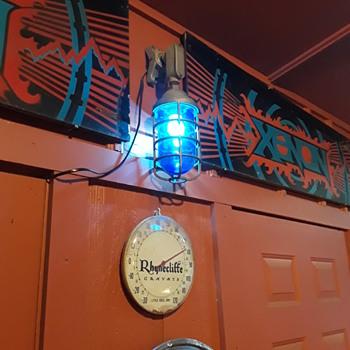 cobalt blue cage light fixture - Lamps