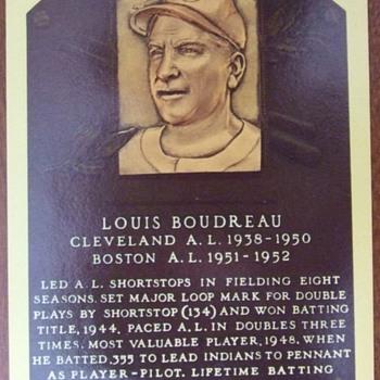 HOF postcard autographed by Lou Boudreau - Baseball