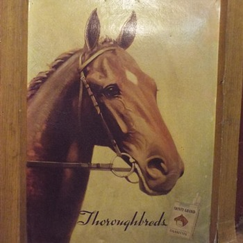 Twenty Grand Thoroughbred Cigarettes Sign - Tobacciana