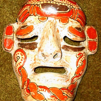 Mexican hanging mask - Pottery