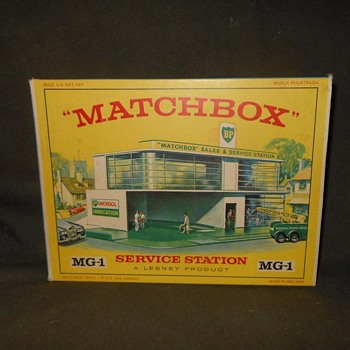 Magnificient Myrmidons Matchbox Monday MG-1 Service Station 1963 - Model Cars