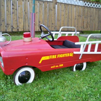1960's amf pedal car fire truck - Toys