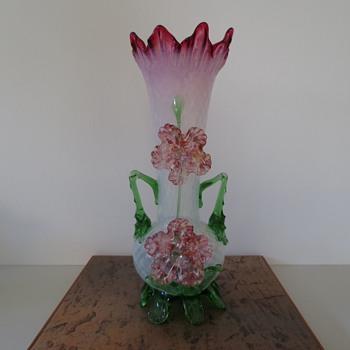 Large Victorian Vase  - Art Glass