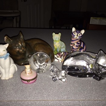 Cat Figurines From Around The World - Animals