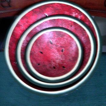 Old Watermelon  wooden bowls - Kitchen