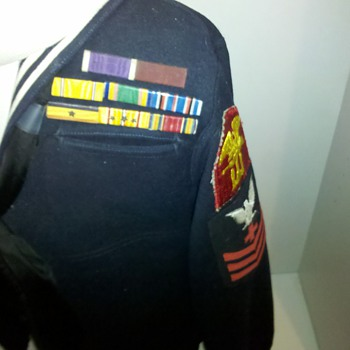 WWII US NAVY Corpsman Combat Medic dress blues tunic.... - Military and Wartime