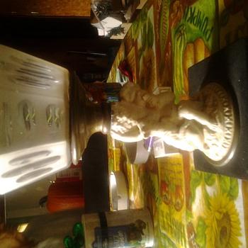 Early kerosene lamp base