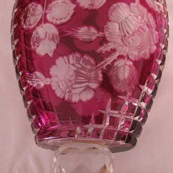 Bohemia Cut Glass Vase - Art Glass