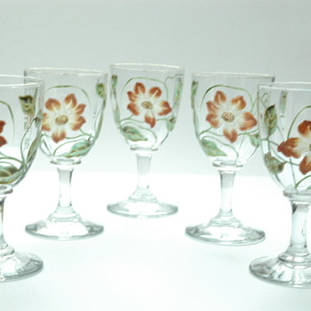rare set of meisenthal wine glass  late 19th. - Glassware