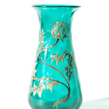 stunning art nouveau vase by vallerysthal circa 1895-1905 - Art Glass
