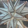 Vintage Glass Moravian Star Ceiling Light Chandelier