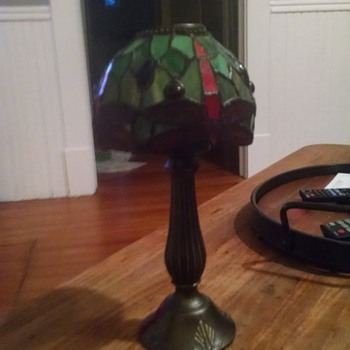 Stained glass candle lamp 1930's - Lamps