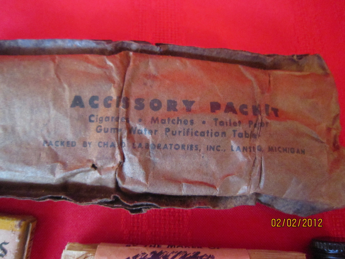 Old World War US USA WWII WW2 Accessory Army Pack Packet