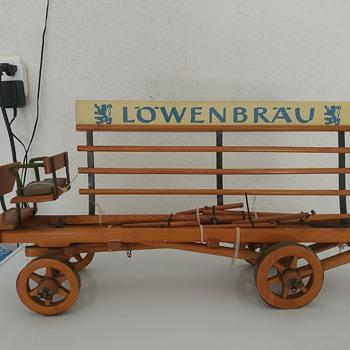 Lowenbrau Beer Drawn Wagon - Breweriana