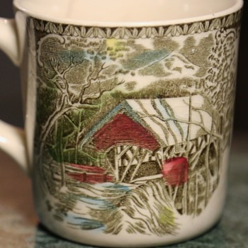 Covered Bridge Coffee Cup - China and Dinnerware