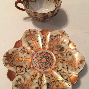 Beautiful   demitasse Cup and Saucer - China and Dinnerware