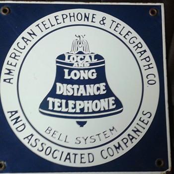 American Telephone & Telegraph Co. Porcelain Sign - Advertising