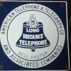 American Telephone & Telegraph Co. Porcelain Sign