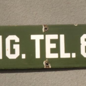 New England Telephone Truck sign - Telephones