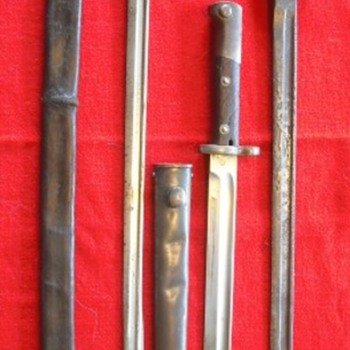 Three Knife Bayonets - Military and Wartime