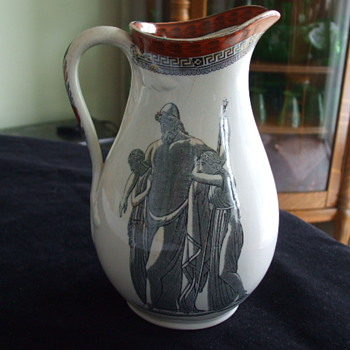 JOHN FLAXMAN Inspired CLASSICAL THEMED Pottery PITCHER - Pottery