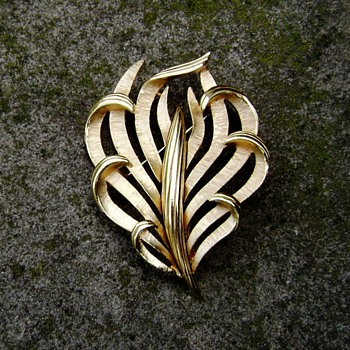 Trifari Calla Lily Brooch - Costume Jewelry