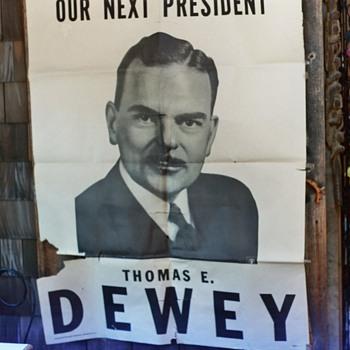 Dewey Poster - Politics