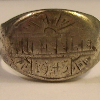 Silver Army Service Ring from the Philippines 1945 - Fine Jewelry