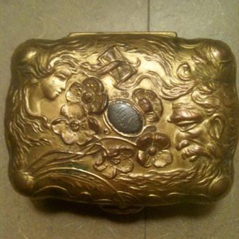 Beautiful Art Nouveau Metal Jewelry Box - Circa 1900 - Art Nouveau