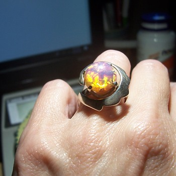 Mexico Silver Opalescent Ring - Fine Jewelry