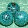 "Glass Swirlback Ball Buttons - 3/8"" - Swirls"