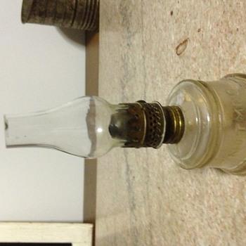 Nutmeg miniature oil lamp - Lamps