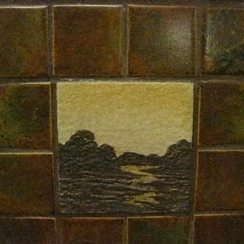1922 fireplace tiles - Arts and Crafts