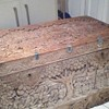 1800s indian or Chinese very large  handcarved box very nice