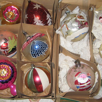 Vintage Christmas Ornments - Christmas