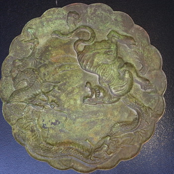 CHINESE BRONZE CHARGER - Asian