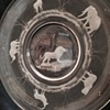Jungle Animals Cut Art Glass Plate