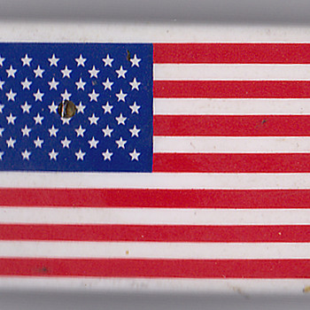 US Flag pin from China - Advertising