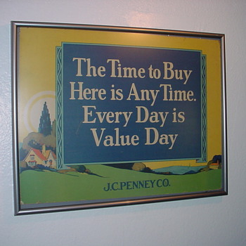 Early J.C. Penney Sign