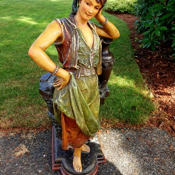 Antique Figural planter of a lady - Pottery