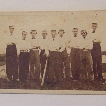 RARE Civil War era Baseball Card - Baseball