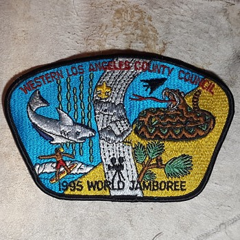 Saturday Evening Scout Post Council Patch Camp Patches and More 1990x - Medals Pins and Badges