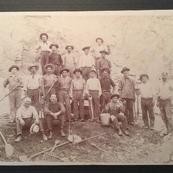 Old Photograph of Some type of Workers, Untitled/Unsigned - Photographs